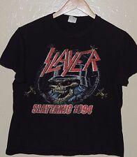 Slayer Slaytanic 1994 Retro Black Concert Promo T Shirt Size Small