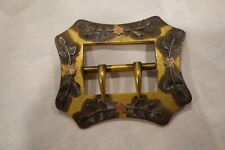 Victorian Edwardian Sash Belt Buckle Gold Filled with Gold Flowers Rare*****