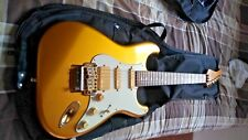 Fernandes LE-2XR Strat Reverse Neck Electric Guitar Gold MIJ Japan w hdshellcase