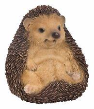 Baby Hedgehog Sitting - Lifelike Garden Ornament - Indoor Outdoor Real Life