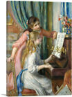 ARTCANVAS Two Young Girls at the Piano Canvas Art Print by Pierre-Auguste Renoir