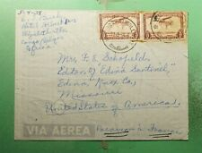 DR WHO 1938 BELGIUM CONGO ELISABETHVILLE AIRMAMIL TO USA  g39114