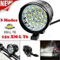 60000LM 16x XM-L T6 LED Bicycle Bike Headlight Head Lamp Torch Light Battery US