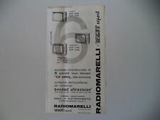advertising Pubblicità 1964 RADIOMARELLI TELEVISORE 569/559/567