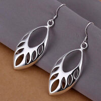 925 BEAUTIFUL SILVER TRIBAL LEAF FORREST GODDESS WITCH DROP EARRINGS CHRISTMAS