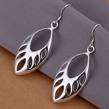 925 BEAUTIFUL SILVER TRIBAL LEAF FORREST GODDESS WITCH DROP EARRINGS VALENTINES