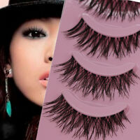 5 Pairs Long Thick Cross Makeup Beauty False Eyelashes Eye Lashes Extension Lwx