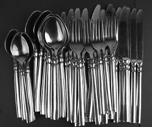 39 Pc Lot International Stainless Radial Forks Knives Spoons (reduced)