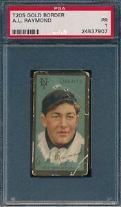 1911 T205 A L Raymond Piedmont PSA 1 *OBGcards*
