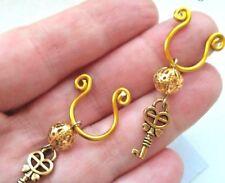 Gold Key Nipple Ring intimate Body Jewelry Non Piercing Nipple Jewelry Clip on