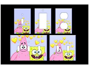 SPONGEBOB & PATRICK Light Switch Covers Home Decor Outlet MULTIPLE OPTIONS
