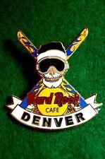 HRC HARD ROCK CAFE Denver SKULL LOGO + crossed Sci