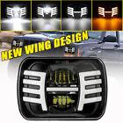 5x7 7x6 Led Headlight Hi-lo Wing Drl Lamp For Jeep Cherokee Xj Wrangler Yj