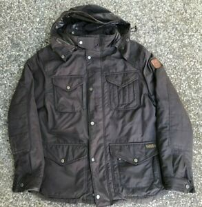 Polo Ralph Lauren Goose Down Jacket sz L SKI PARKA BROWN LEATHER
