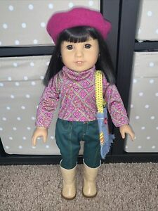 """American Girl Ivy Ling 18"""" Doll - Julie's Friend w/Meet Outfit & Accessories 70s"""