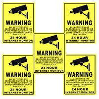 5 X 20cm X 25cm Surveillance Security Camera Webcam Warning Sign Sticker Decal