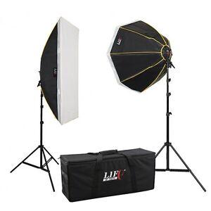 Daylight Set Studioset LS-1290, 8x150 W Tageslicht Studio-Lampe Foto-Leuchte