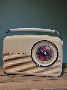 FABULOUS ORIGINAL RETRO VINTAGE 1960's BUSH TRANSISTOR RADIO-TR82- WORKING ORDER