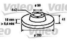 VALEO Juego de 2 discos freno Trasero 260mm MITSUBISHI SPACE VOLVO S40 186647