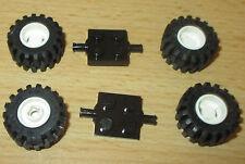 SK129 TOP 16 Stück hellgraue RAD ACHSEN PLATTEN 2X2 mit 2 Pin ACHS LOCH 2817