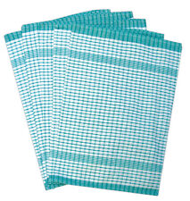10 Pack GREEN Wonderdry Catering Cloths Checked Kitchen T-Towels