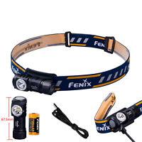 Fenix HM50R USB Rechargeable Headlamp 500LM CREE XM-L2 LED Head Torch + Battery