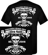 Motorrad Biker Shirt Motorradkleidung Motorradfahrer Scull Totenkopf Zylinder