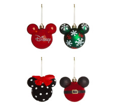 Disney Mickey Minnie Mouse Christmas Tree Bauble Decorations 4X Large Primark