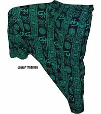 INDIAN ALI BABA HAREM YOGA MEN & WOMEN-TROUSER-BAGGY-GYPSY-BOHO-HIPPIE-OM-PANT03