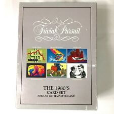 TRIVIAL PURSUIT~The 1980's Card set for the Master game, VTG 1990 Parker Bro's