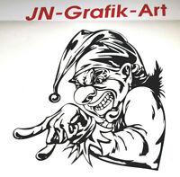 Clown Joker  Aufkleber Auto Style Sticker Tuning Racing JDM  Schocker kult Decal