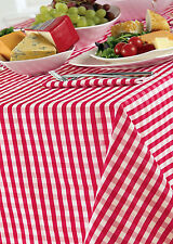 """Controllo Gingham ROSSO CILIEGIA BIANCO 69 """"ROUND TABLE CLOTH paese LOOK POLIESTERE"""