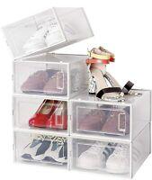 Amzdeal Stackable Shoe Storage Box - 6 storage set!