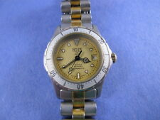 Tag Heuer 2000 Professional Gold Dial Ladies Swiss Watch 974.008 NO RESERVE