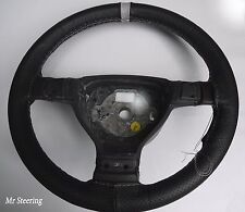 Fits Lexus GS 300 Mk1 Black Perforated Leather Steering Wheel Cover Grey Strap