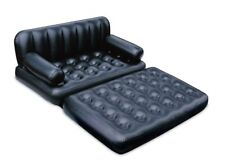 Inflatable Pull Out Sofa Bed Sleeping Air Mattress Couch Blow Up Queen Size