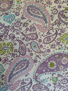 Pottery Barn Kids Brooklyn Purple Paisley Twin Duvet Cover