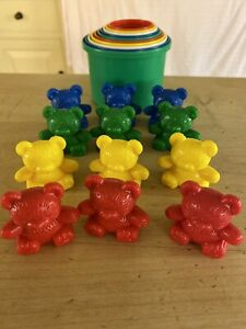 Building Tower Pots & Coloured Teddies