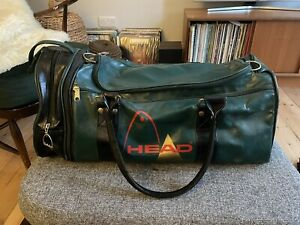 Vintage Retro Green And Red Head Holdall Bag Sports