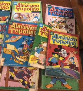 Topolino libretto lotto albi almanacco Topolino Anni 60 Pezzi  20