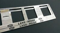 2X LAND ROVER NEUF EXCLUSIF SUPPORT DE PLAQUE D'IMMATRICULATION EUROPEA.