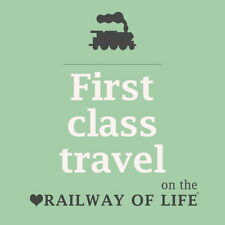 Railway Enthusiast coasters RAILWAY OF LIFE / KEEP CALM STEAM ON Ideal gift