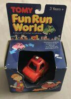 Tomy Fun Run World Feuerwehr Auto / Fire Chief Car / Vehicle - Vintage Neu Ovp