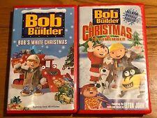 HUGE BOB the builder VHS tapes LOT 2 Vintage HTF Free Shipping Christmas