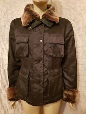 Belstaff gold label nylon jacket with fur collar and cuffs size L
