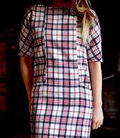 ZARA WOOL BLEND TARTAN CHECKED DRESS SIZE SMALL REF 7840 305