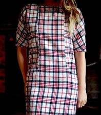 ZARA WOOL BLEND TARTAN CHECKED DRESS SIZE SMALL REF 7840 305