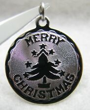 """Vintage Griffith """"Merry Christmas"""" XMAS Holiday Star Tree Sterling Charm NOS"""