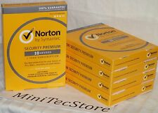 Norton Internet Security Premium 10 Devices  1 Y (PC Mac iOS Android) New Sealed