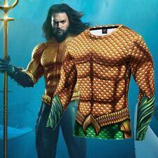 3D Printed Dc Superhero Aquaman Costume Cosplay Compression Quick-Drying T-shirt